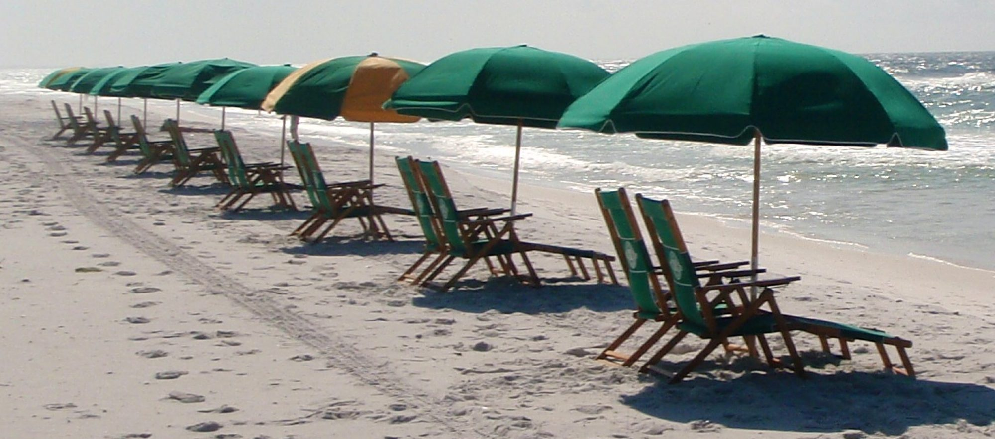 Beach chair and umbrella rentals